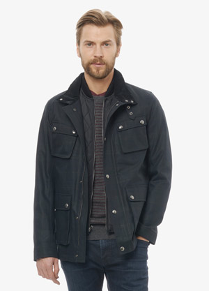 Vince Mens Coastal Plaid Coat