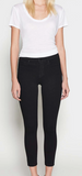L'Agence Margot high rise ankle skinny in noir