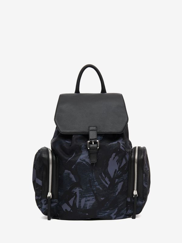 MCQ mens double side camo backpack