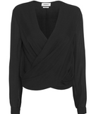 L'Agence gia snap silk blouse