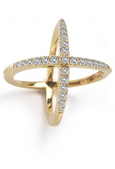 Elizabeth & James windrose pave ring