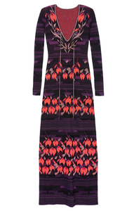 Rachel Zoe Kia intarsia maxi dress