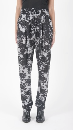 McQ Womens pleat front Trompe L Oeil pant