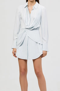 Acler alma silk shirt dress