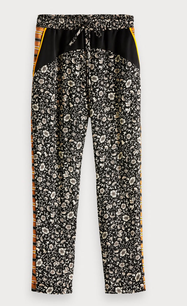 Scotch & soda printed woven color block pants
