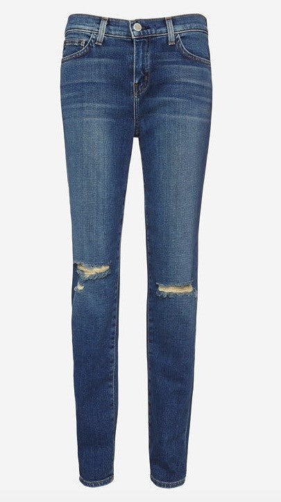 L'Agence mon jules perfect fit distressed jean