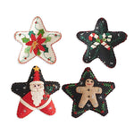 Assorted 4 Inch Felt Star Ornaments (4 Styles) - Fox & Fig