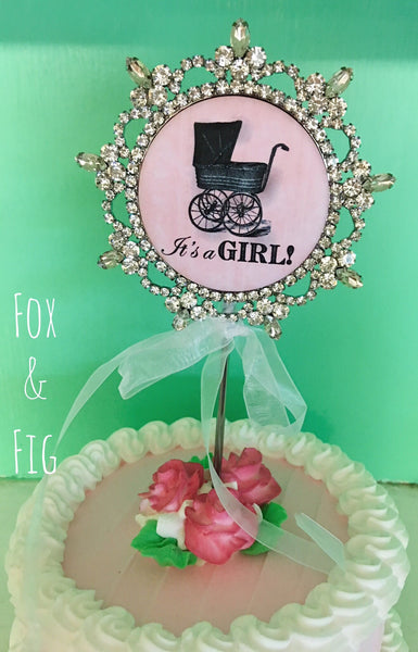It's A Girl Cake Topper - Fox & Fig