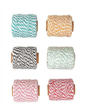 54 Yards Cotton Bakers Twine On Spool, 6 Colors - Fox & Fig