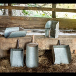 Collected Metal Feed Scoops