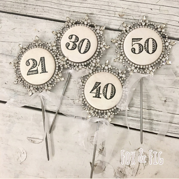 Birthday Number Cake Topper