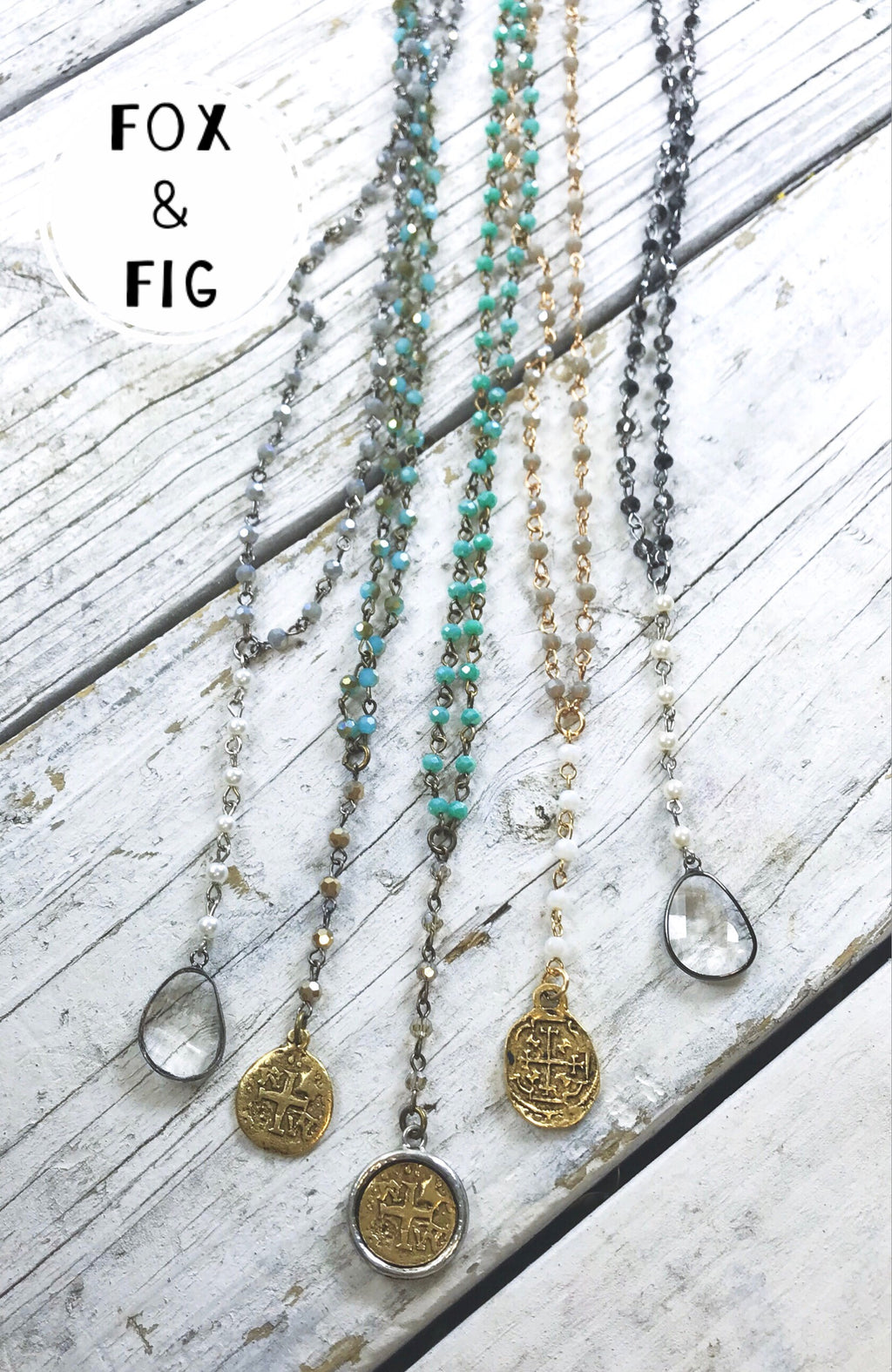 Lula 'n' Lee Crystal Layering Necklaces ~ Various Colors & Styles