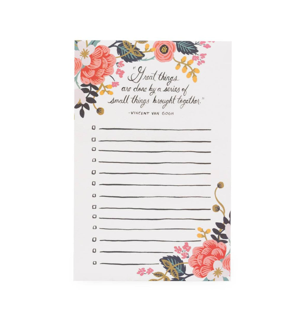 Great Things Notepad - Fox & Fig