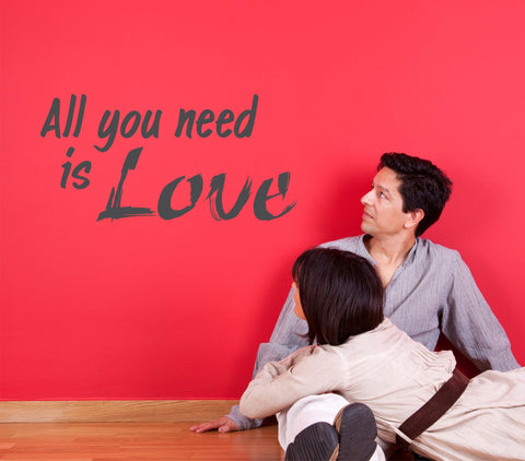All You Need is Love wall decal - Beatles quote - Arise Decals