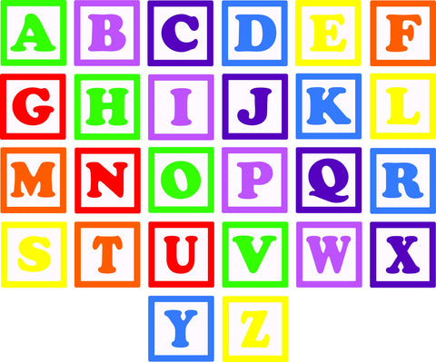 Alphabet Blocks Wall Decal Set - Arise Decals
