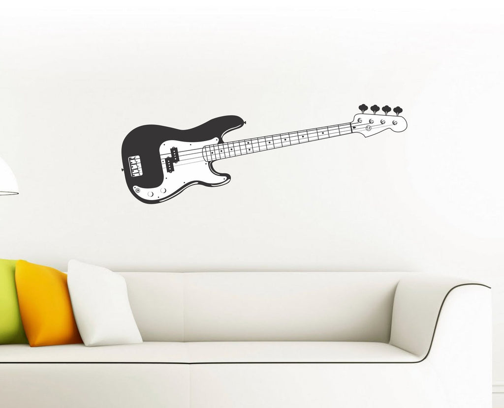 Bass Guitar wall decal - Arise Decals