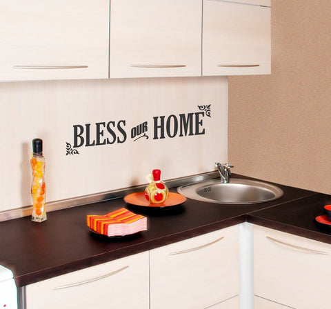Bless Our Home wall decal - Arise Decals
