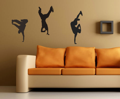 Breakdancers wall decal - Bboy stickers - Arise Decals