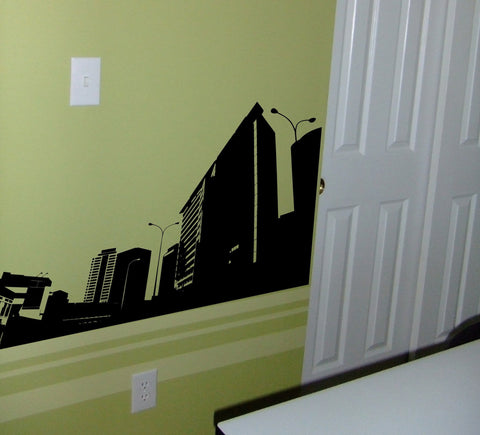 City Skyline wall decal - Arise Decals