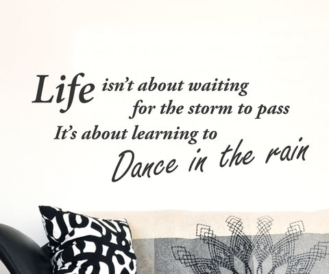 Dance In The Rain Wall Decal - Arise Decals