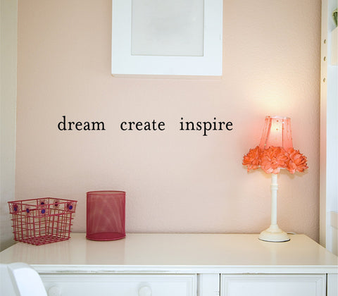 Dream Create Inspire wall decal - Arise Decals