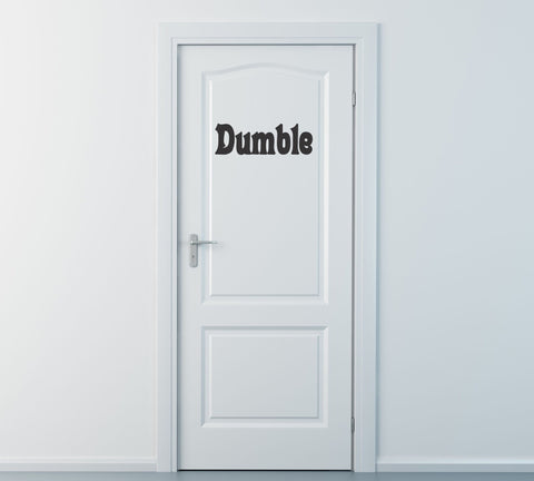 Dumble Door Harry Potter Wall Decal - Arise Decals