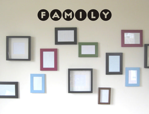 Family Polka Dot wall decal - Arise Decals
