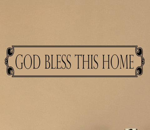 God Bless This Home wall decal - Arise Decals