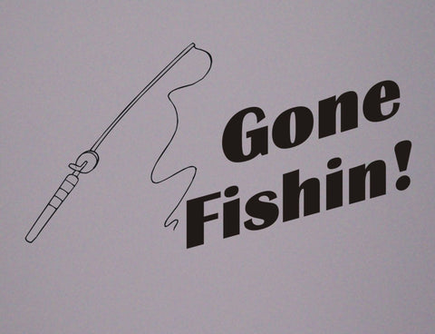 Gone Fishing wall decal - Arise Decals