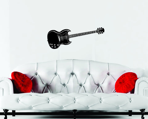 Guitar wall decal Gibson SG style - Arise Decals