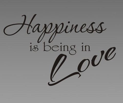 Happiness is Being in Love wall decal - Arise Decals