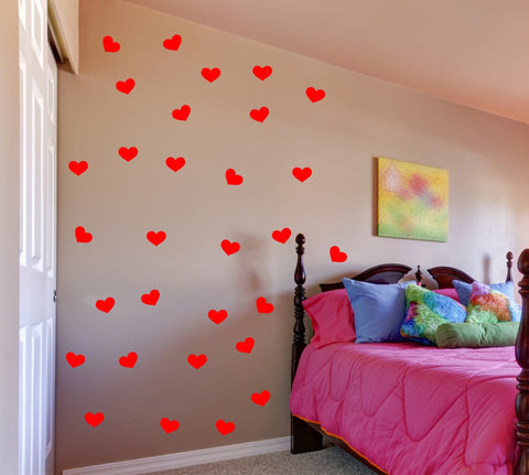 Heart wall decal set - Arise Decals