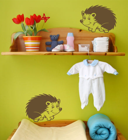 Hedgehog wall decals - Arise Decals