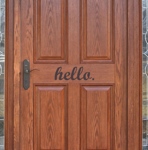 Hello door decal - Arise Decals