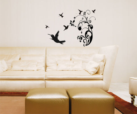 Hummingbirds wall decal - Arise Decals