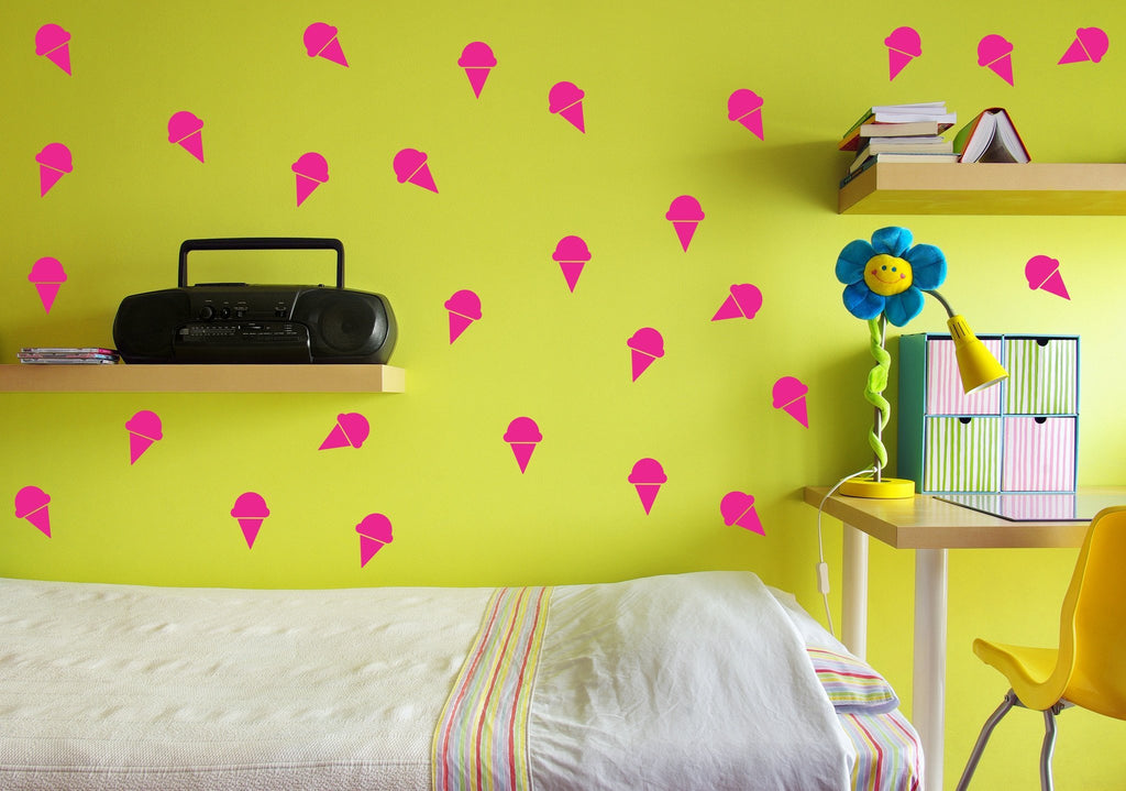 Ice Cream Cone wall decal set - Arise Decals