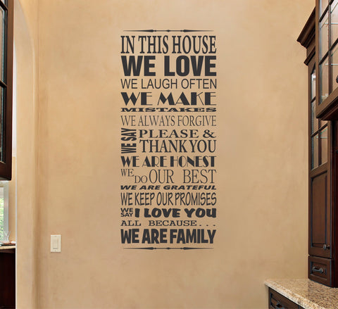 In This House wall decal - Arise Decals