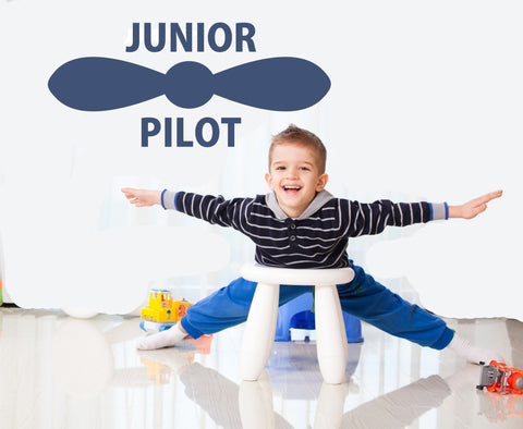 Junior Pilot wall decal (small) - Arise Decals