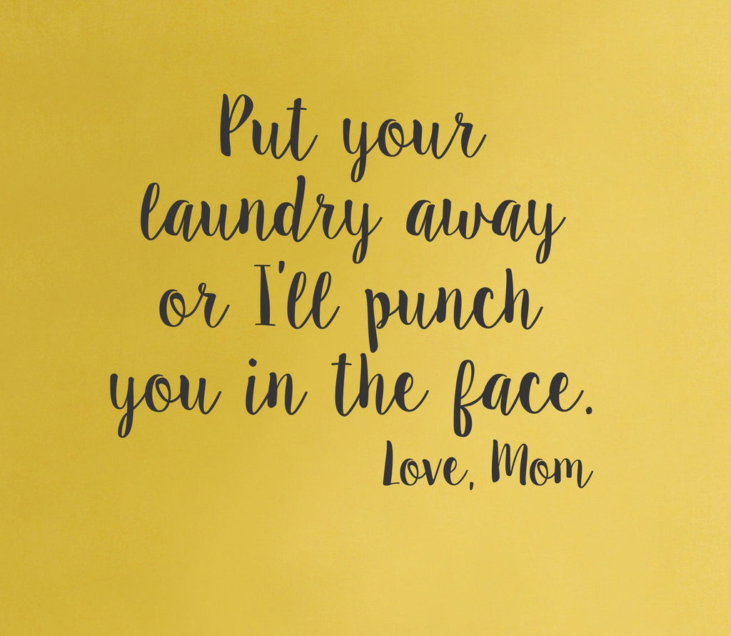 Laundry room wall decal - Love Mom - Arise Decals