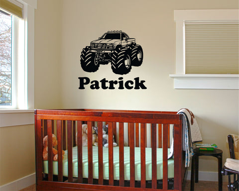 Monster Truck personalized wall decal - Arise Decals