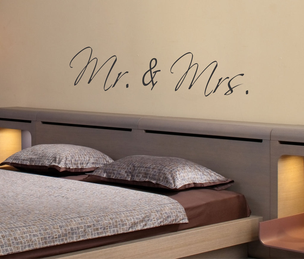 Mr. and Mrs. Wall Decal - Arise Decals