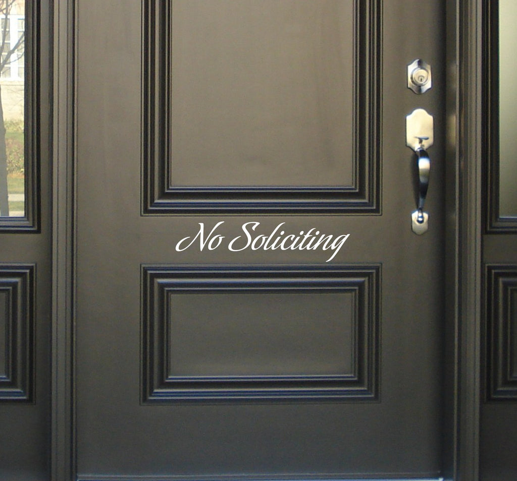 No Soliciting decal - Arise Decals
