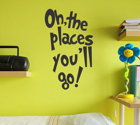 Oh, the Places You'll Go Dr Seuss wall decal - Arise Decals