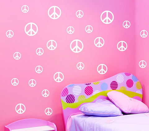Peace Symbol wall decals - Arise Decals