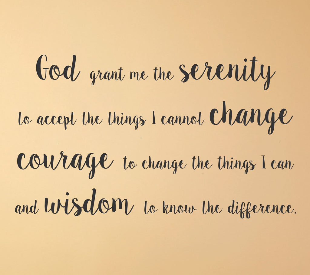 Serenity Prayer wall decal - Arise Decals