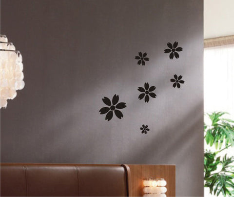 Set of Flowers wall decal - Set 01 - Arise Decals