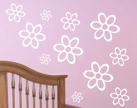Set of Flowers wall decal - Set 02 - Arise Decals