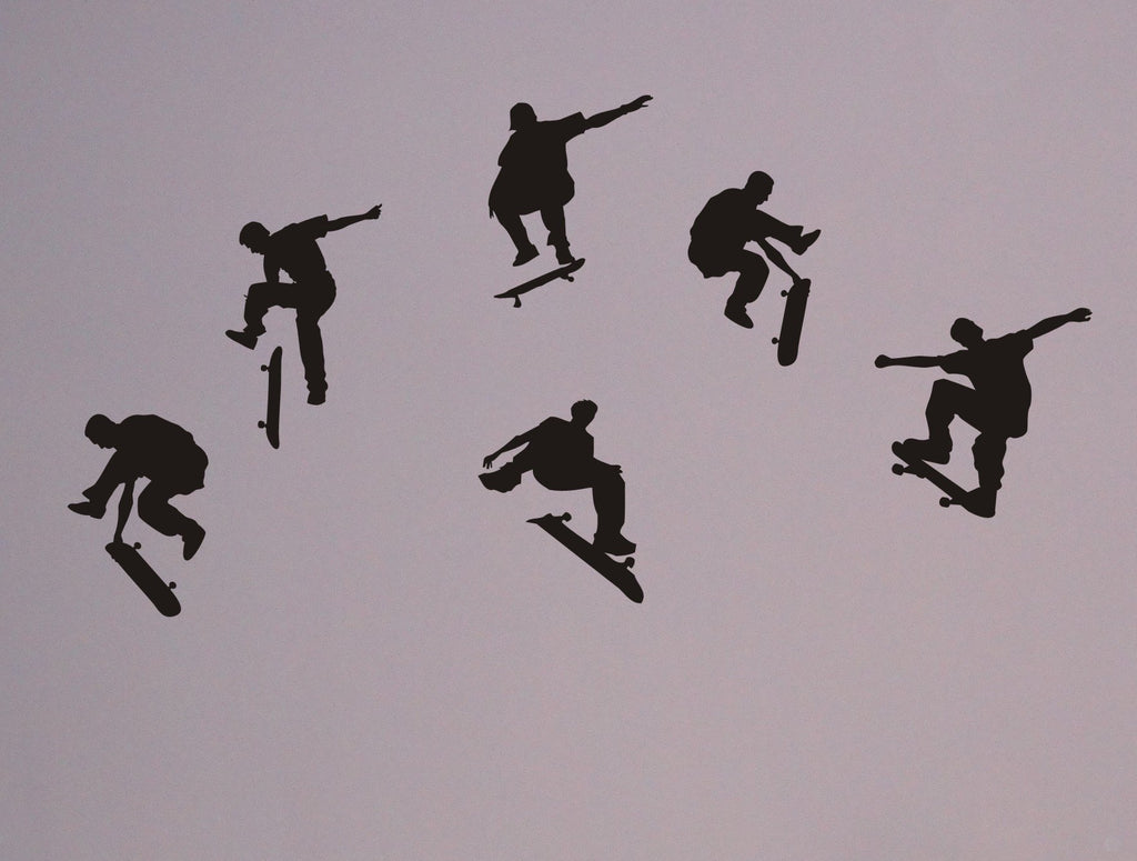 Skateboarders wall decal set - Arise Decals