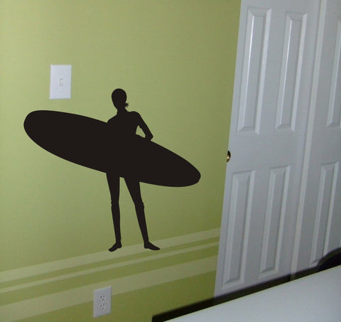 Surfer Girl surf wall decal - Arise Decals