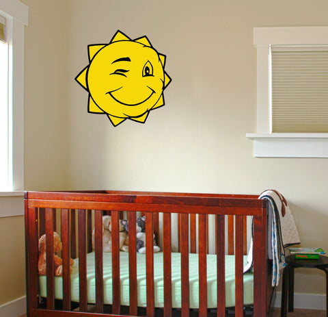 Winking Sun wall decal - Arise Decals